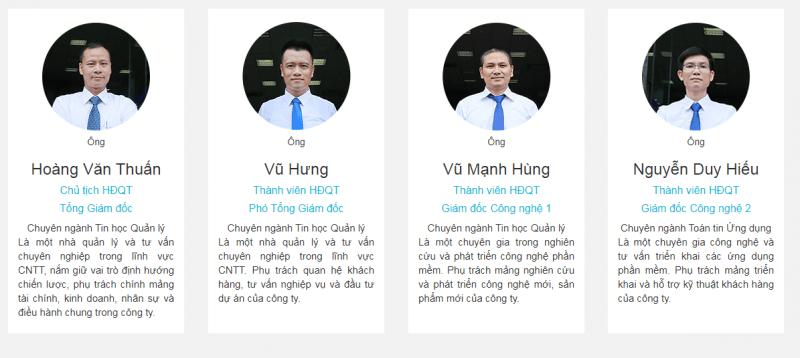 Ban lãnh đạo công ty chữ ký só EFY Việt Nam
